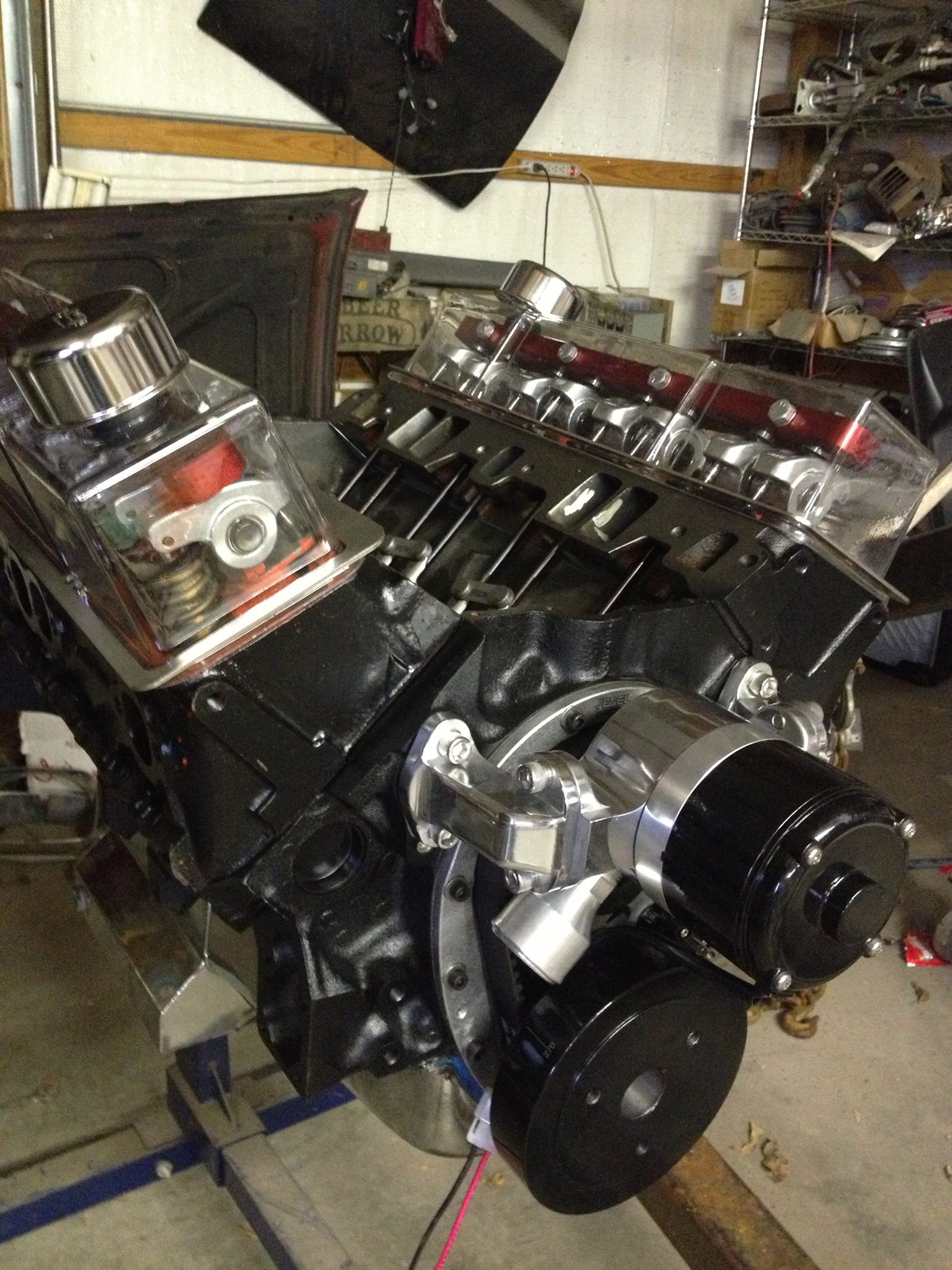 clear valve covers for small block chevy engines sbc ebay. Black Bedroom Furniture Sets. Home Design Ideas